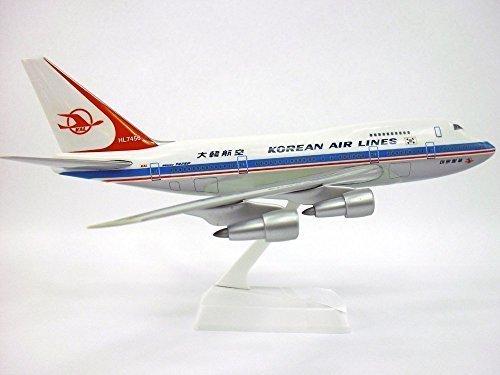 korean-air-lines-69-84-747sp-airplane-miniature-model-snap-fit-kit-1200-part-abo-747sph-006-by-fligh