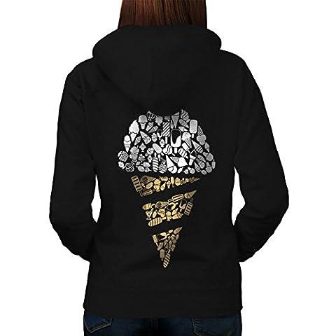 Ice Cream Art Cold Food Women XL Hoodie Back |