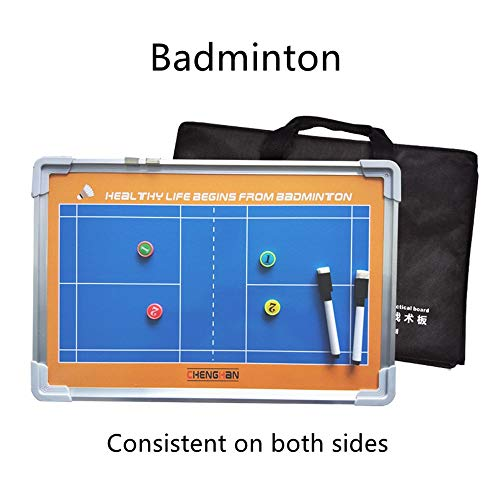 ABCCS Doppelseitiges Badminton Magnetic Tactic Coaching Board Athletenwettbewerb Rewritable Command