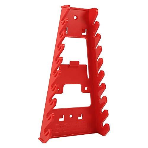 Zerone 9 Slot Red Kunststoff Schraubenschlüssel Rack Standard Organizer Halter Storage Tool Schraubenschlüssel Keeper