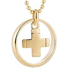 Pescado Girl Boy cadena chapado en oro de plata de ley 925Cruz colgante anillo de bautizo regalo Bautismal claro dulces regalos, regalo Idea Girl Boy