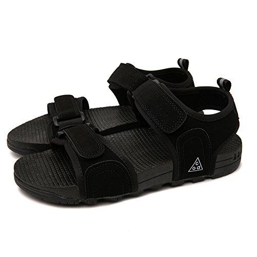 Sandales Plates Pour Femme - Sandales Chaussures de Plage Noir