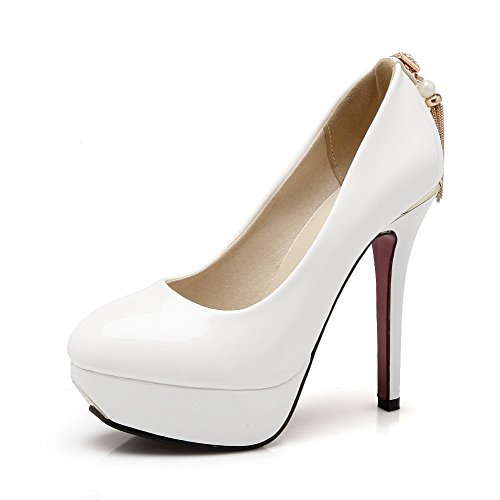voguezone009-womens-pull-on-pu-round-closed-toe-spikes-stilettos-solid-pumps-shoes-white-37