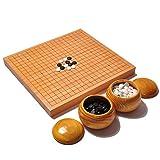 Mankvis Juego de Mesa, Chinese Chess/Go Two in One, Juego de Estrategia Educación Familiar Apoyos 18.5 '' * 17.3 ''