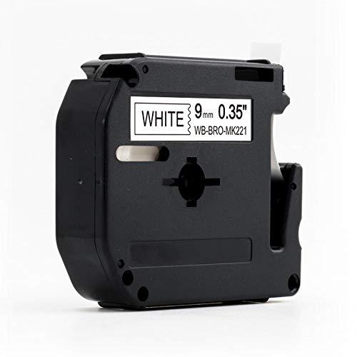 Preisvergleich Produktbild Kompatible Brother laminiertes Klebeetikett Band Kassette M-K221 (15er Pack)