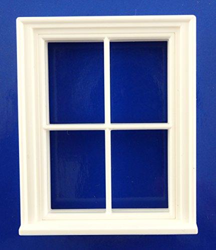 fenster puppenhaus Melody Jane Dolls Houses Puppenhaus Bastler DIY 1:24 Maßstab Klassisches Weiß Kunststoff Georgischer 4 Ausschnitt Fenster
