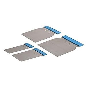 Silverline 398777 – Espátulas para Masilla, 4 pzas (50, 80, 100, y 120 mm)