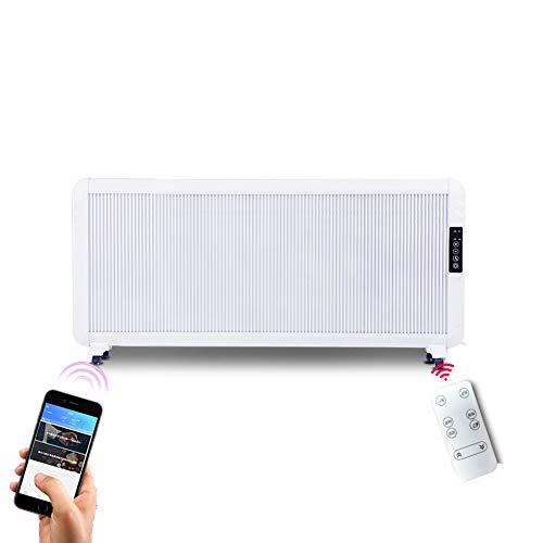 Elektroheizkörper LHA Konvektionsheizkörper 2000W Weiß - Einstellbarer Thermostat, 5 Heizstufen und Timer - Freistehend, mit Wärmedämmung