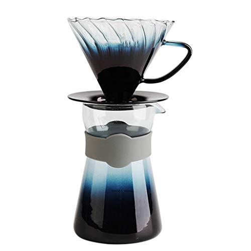 YQQ-Cafetière Filtre à café en Verre résistant à la Chaleur avec Tasse à café à Main