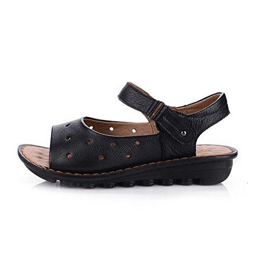 Sandales de mère/Vieille sandale en fond mou/Anti-dérapant chaussures/Chaussures de plage B