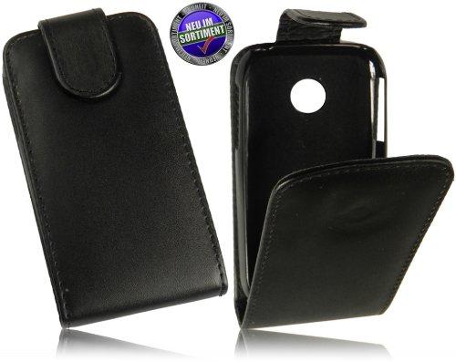 Für LG P690 Optimus Net Tasche Flip Case PU Leder Vertikaltasche Handytasche Flip style Schutzhülle mit integrierten DisplaySchutz in Schwarz