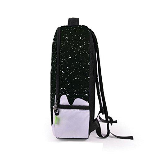 Lanspo 3D Galaxy Travel Satchel Rucksack Rucksack Schulter Bookbag Schulbeutel Unisex Damen Herren Outdoor Sport Camping Rucksack Creative Pop Bag E