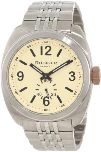 Rudiger Men's R5001-04-013.7 Siegen Two-tone Stainless Steel Bracelet Beige Dial Watch