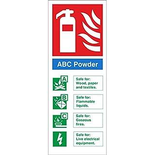 ABC Powder Sign 80mm x 200mm Rigid Plastic (FI.08N-RP)