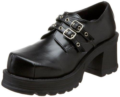 Demonia Trump-101, Bottes Classiques Femme Noir (Schwarz Blk Vegan Leather)