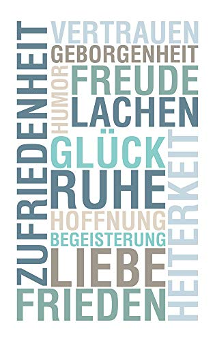 GRAZDesign Motivationsbilder Büro Wörter Glück Ruhe Lachen Freunde, Kunstdruck Fotodruck Wortwolke, Wandbild türkis blau Petrol Weiß Acrylglasbild / 80x120cm
