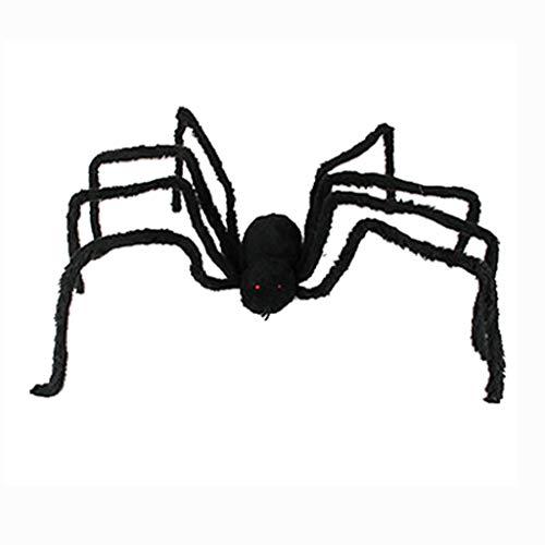 Junjie 2019 Halloween Gefälschte Spinnenparty Dekoration Haunted Horrid Scare Scene Plüschsimulationsspinne Toy Spielzeug Schwarz (2019 Michaels Halloween-dekoration)