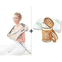 Donnerberg® Schulter Massagegerät für Nacken Schulter Rücken | Das Original Nackenmassagegerät mit Bambuskissen
