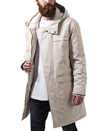 Urban Classics Cotton Peached Canvas Parka, Giacca Uomo, Elfenbein (Sand 208), Large