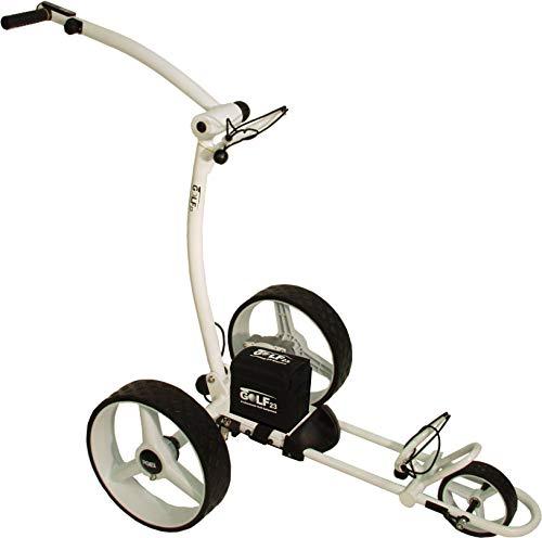 Elektro Golf Trolley PGE 3.1 12V/33Ah, USB, Weiss