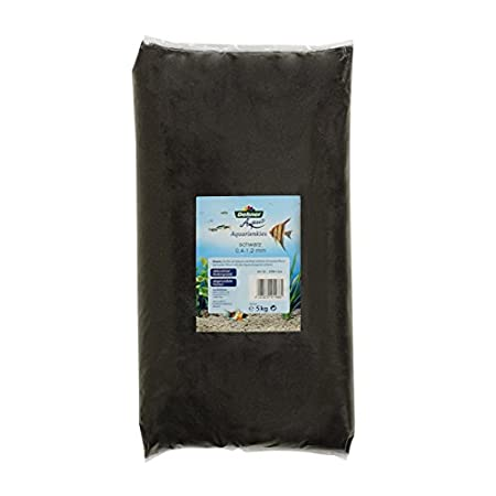 Dehner Aqua Aquariensand, Körnung 0.4 – 1.2 mm, 5 kg, schwarz