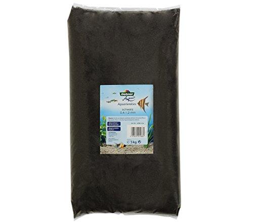 Dehner Aqua Aquariensand, Körnung 0.4 - 1.2 mm, 5 kg, schwarz (Aqua-aquarium Herr)