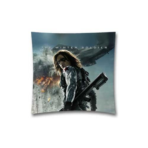Bin Königreich Überwurf Kissenbezug, der Winter Soldier Sebastian Stan quadratisch Dekoratives Kissen Kissen 45,7x 45,7cm (Winter Kissen Dekorative)