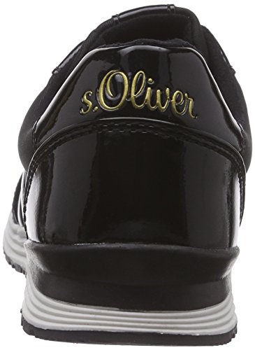 s.Oliver - 23607, Scarpe da ginnastica Donna Nero (Nero (Black 001))