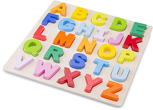 New Classic Toys Puzzle Alphabet, Colore Higher Case, 10534