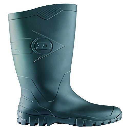 Preisvergleich Produktbild Dunlop Dane Schwarz und Grün PVC Unisex-Erwachsene Halbschaft Gummistiefel - 42 - K600011