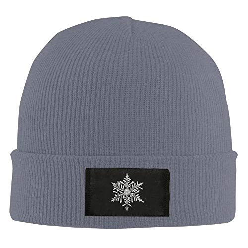 Bikofhd Christmas Snowflake Winter Warm Knit Hats Skull Caps Thick Cuff Beanie Hat for Men and Women New6 -