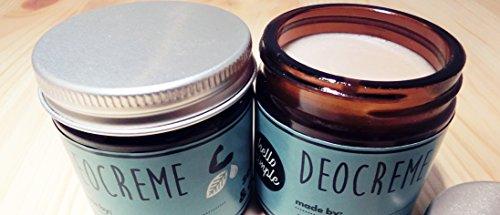 hello simple - DIY Deocreme/Creme Deodorant zum Selbermachen (150 g, 2 Stück), Naturkosmetik ohne Aluminium, vegan, bio, plastikfrei (Limette-Zypresse) - 5