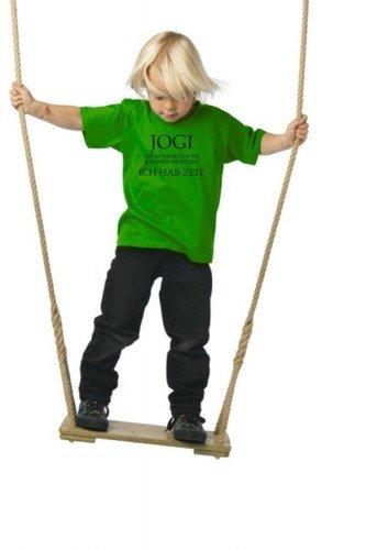 Coole-Fun-T-Shirts - JOGI ich hab Zeit kids, Maglietta per bambini, Verde/Nero, 9/11 anni