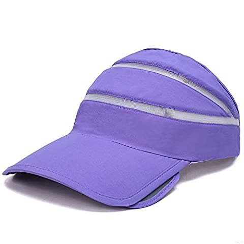 GADIEMENSS Quick Dry Lightweight Soft Comfortable Visor Hat Sports Empty Top Baseball Cap (Empty Top,