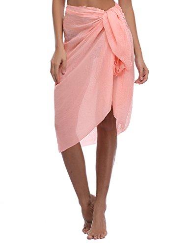 iClosam Damen Strandkleid Bikini Cover up 2019 Sommer Bikini Kleid Damen Pareos & Strandkleider,Multifunktional,Durchsichtig