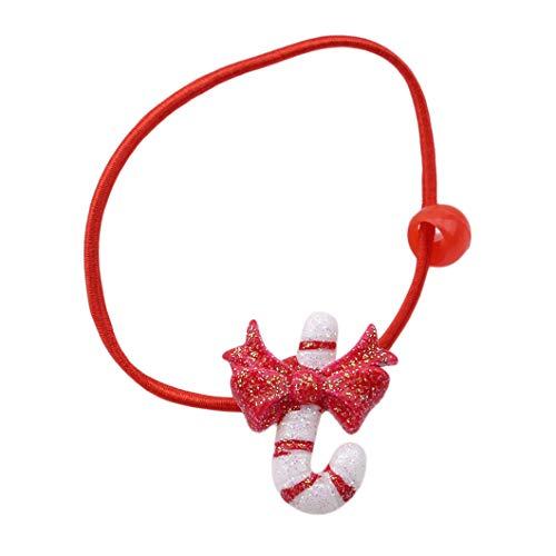 (DeliV Weihnachtsschmuck Handwerk Set Haarspange Zubehör Weihnachten Santa Claus Claus Segen Tasche Cane Sock Craft, Krücke)