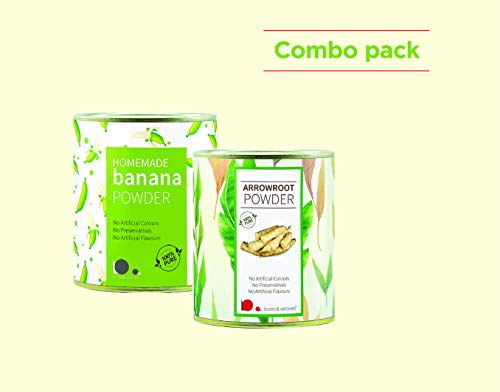 looms & weaves - Combo Pack of 250 gm Banana Powder + 250 gm Arrowroot Powder
