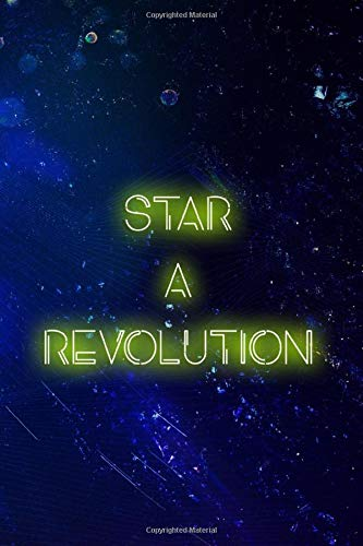 Start A Revolution: Blank Lined Notebook ( Vaporwave ) Blue Revolution Womens Sweatshirt