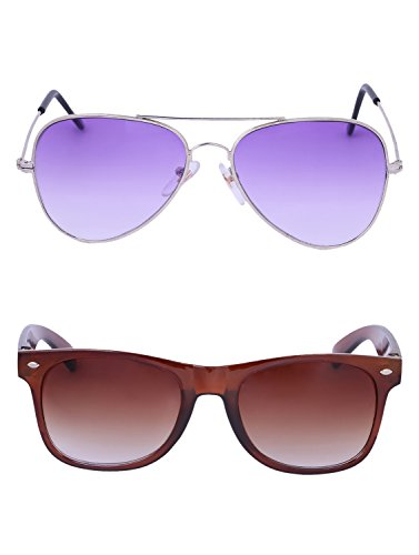 Amour-propre AmourPropre Multicolor UV Protected Unisex sunglasses Pack of 2_(AM_CMB_LP_3159)