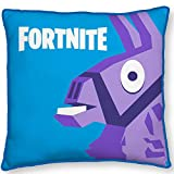 Character World Fortnite - Cuscino Decorativo da Auto, 40 x 40 cm, Motivo: Lama, Colore: Blu