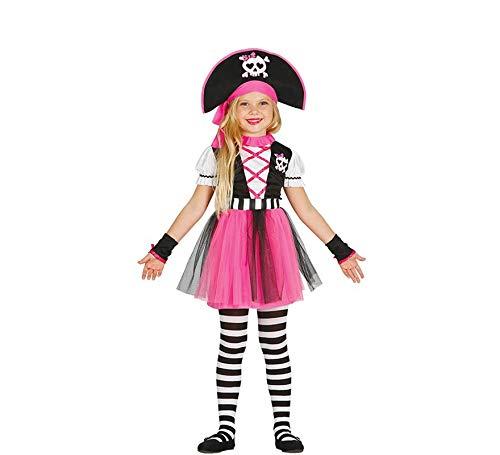 Kostüm Pirat Pink Kid's - Guirca pinkes Piratin Kostüm für Mädchen Piratenkostüm Kinder Piraten Pirat Seeräuberin Kostüm Gr. 110-140, Größe:110/116