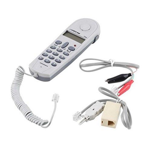 Delicacydex Telefon Telefon Butt Test Tester Lineman Werkzeug Netzwerkkabel Set Netzwerkkabel Tester mit Stecker und Joiner C019