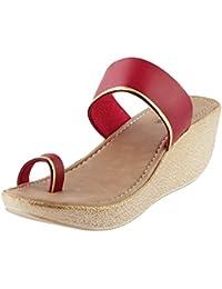 Walkway Women BLACK Synthetic Sandals (32-9639)