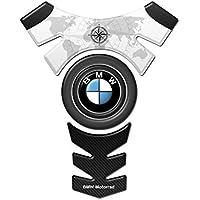 Motoking tanque pad compatible ETIQUETAS 3D-ETIQUETA' 'CENTRO BMW logotipo del estilo negro''- tanque de la motocicleta y la protección de la pintura universal