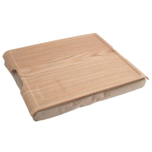 """BOSIGN """"Surf Pillow"""" Laptop Kissen Laptray Notbooktisch Kissen mit Tisch Knietablett für Ihr Laptop - in Natur Sandfarben"""