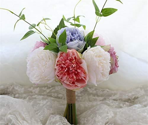 ELEGENCE-Z Hochzeitsblumen, Brautstrauß, handgemachte Rose Foam Crystal Diamante Brautjungfer Blume