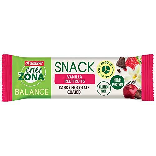Enerzona snack 40-30-30 confezione da 30 barrette gusto vanilla red fruits