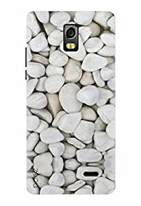 Noise Designer Printed Case / Cover for Lyf Water 10 / Patterns & Ethnic / Stone Design