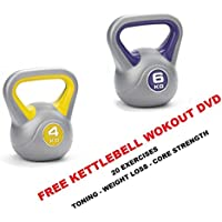IQI Kettlebell Set: 4kg + 6kg Kettelbells Kettle bells FREE WORKOUT DVD