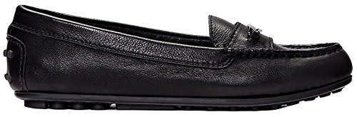 Vionic Womens Honor Ashby Leather Shoes Noir